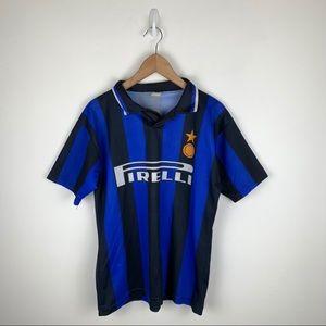 ITALY Milan Soccer Jersey Shirt PIRELLI